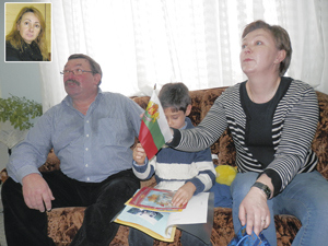 Любовта между щастливите родители и Теодор пламнала от пръв поглед. На малката снимка вляво Татяна Иванова.