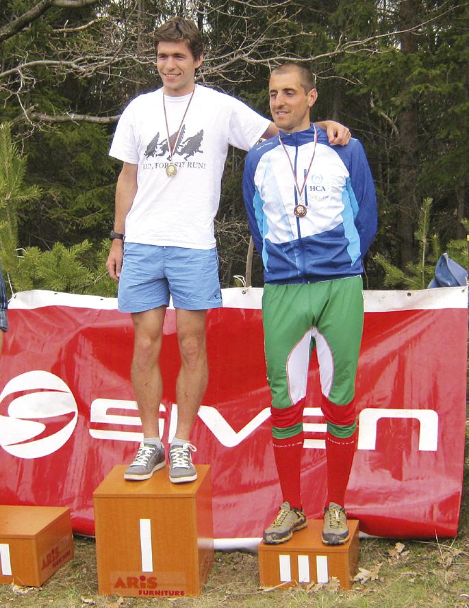 Шампионът Григор Караиванов и третия в спринта Петър Доганов.